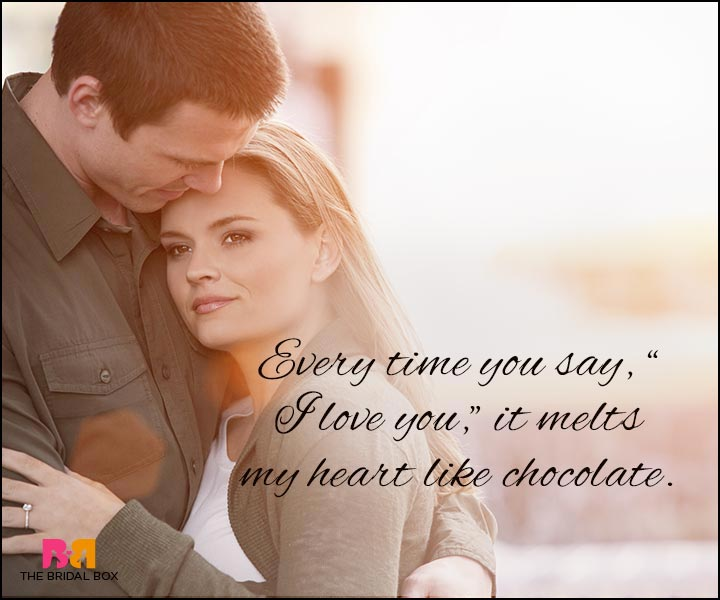 Love Quotes For Wife - Like Chocolate