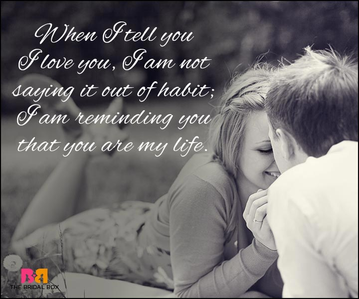 Love Quotes For Wife - You Are My Life