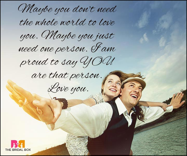 Love Quotes For Wife - Maybe You Just Need One Person