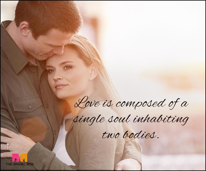 Love Quotes For Wife - A Single Soul