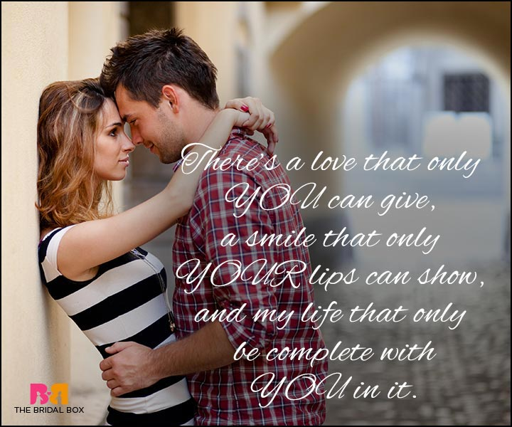 Love Quotes For Wife - My Life Is Only Complete With You