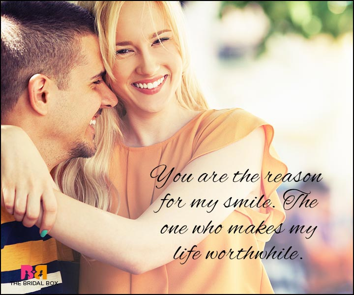 Love Quotes For Wife - The Reason For My Smile