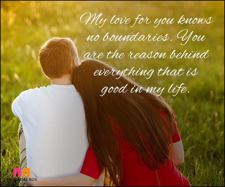 Love Quotes For Wife - No Boundaries