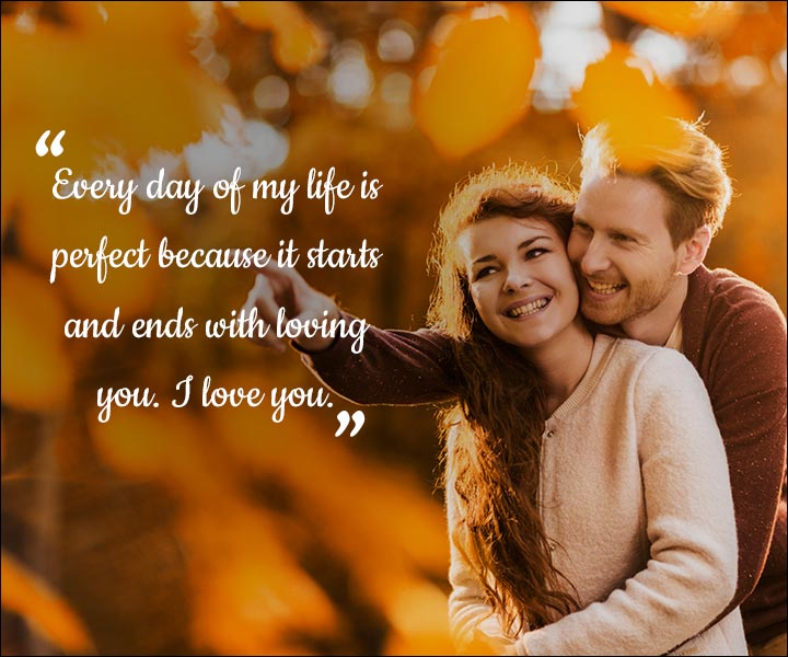 Mushy Love SMS For Husband - It Starts And Ends With You