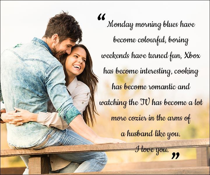 Mushy Love SMS For Husband - The Fun Week