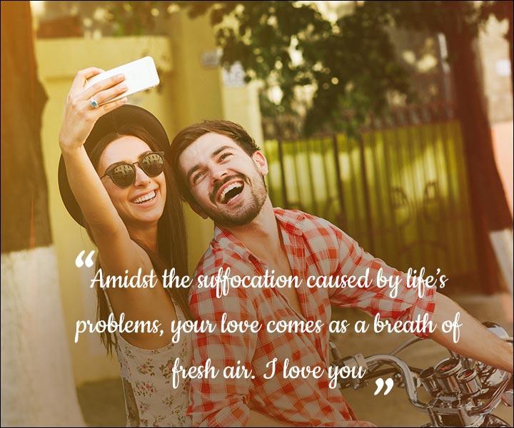 Mushy Love SMS For Husband - A Breath Of Fresh Air