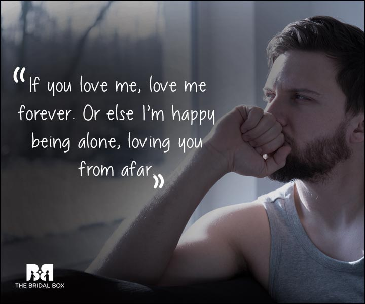 One Sided Love Statuses - Happy Alone