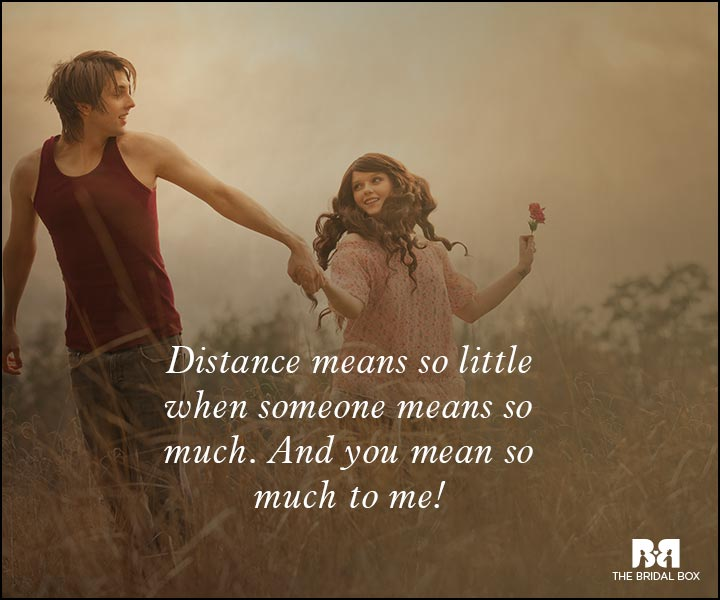Romantic Love Messages - Distance Means So Little
