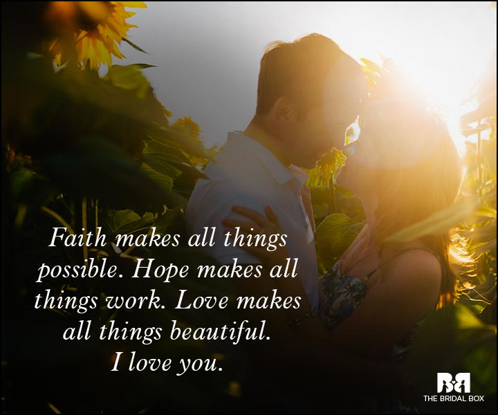 Romantic Love Messages - Faith, Love, Hope