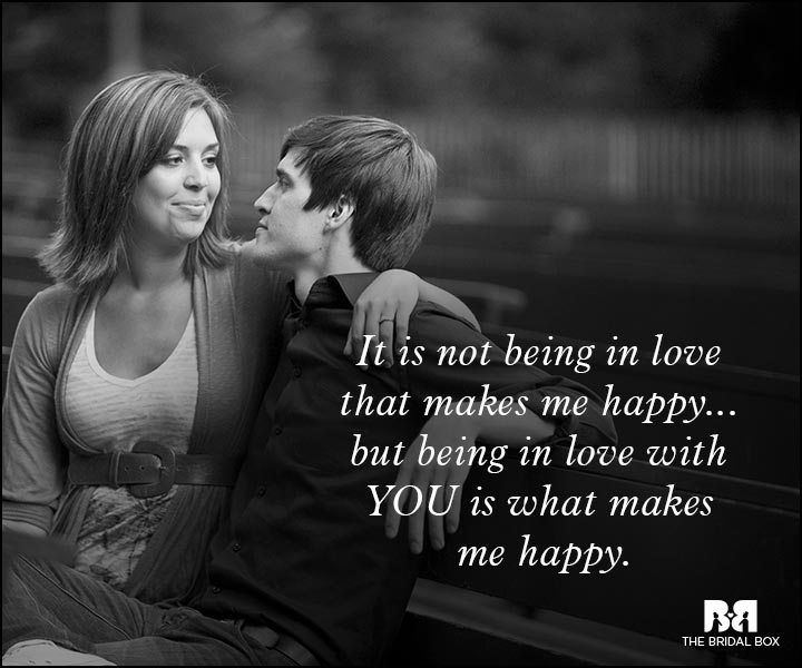 Romantic Love Messages - Being In Love With You Makes Me Happy