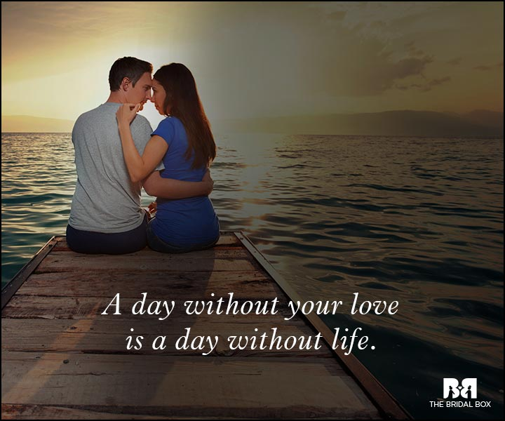 Romantic Love Messages - A Day Without Your Love