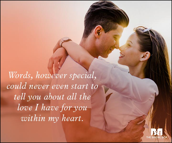 Romantic Love Messages - Word Can't Even Begin To Say It