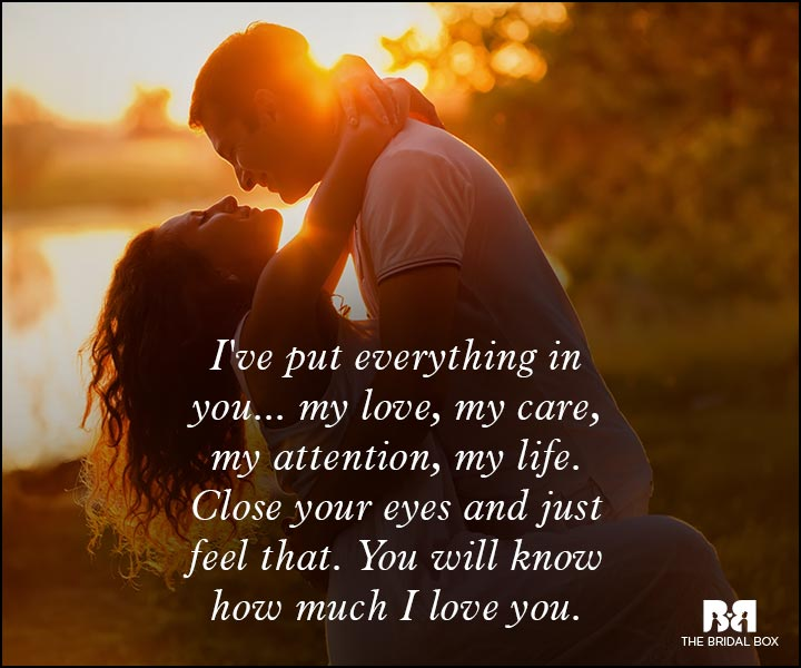Romantic Love Messages - Close Your Eyes And You Will Know