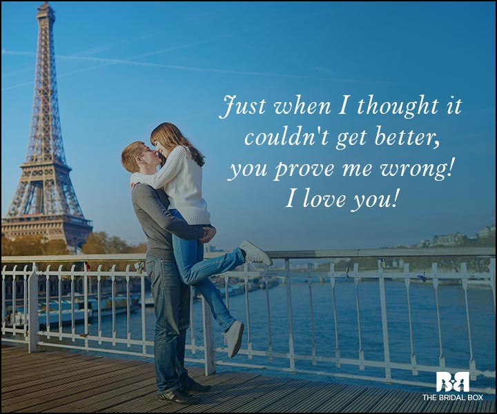 Romantic Love Messages - It Keeps Getting Better