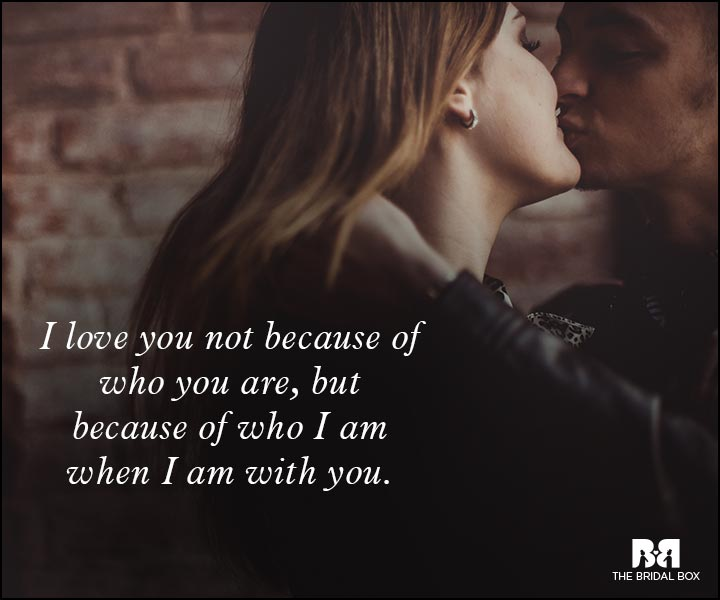 Romantic Love Messages - Not Because Of You