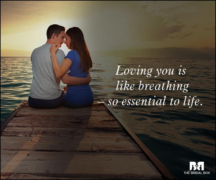 Romantic Love Messages - Like Breathing