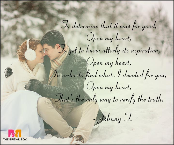 Short Romantic Love Poems - Johnny J