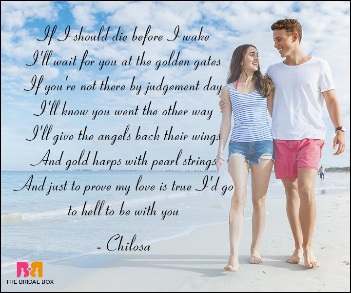 Short Romantic Love Poems - Chilosa