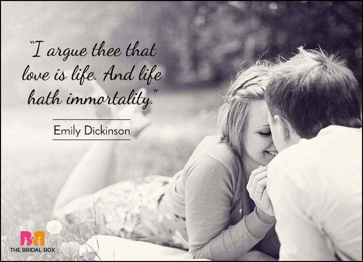 Short Love Quotes - Immortal Is Our Love - Emily Dickinson