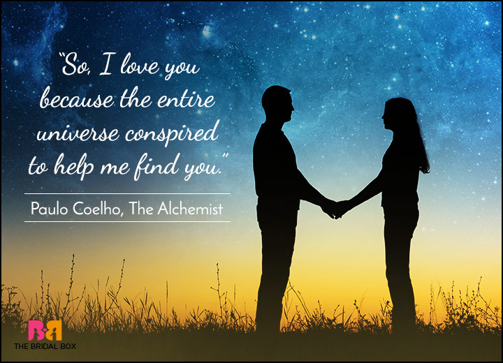 Short Love Quotes - Fate Brought Us Together - Paulo Coelho