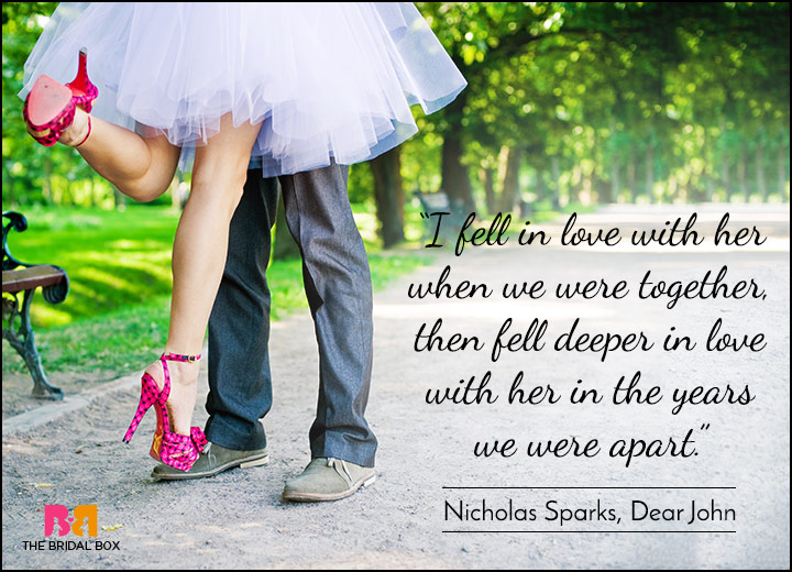 Short Love Quotes - Cause Distance Doesn't Matter - Nicholas Sparks