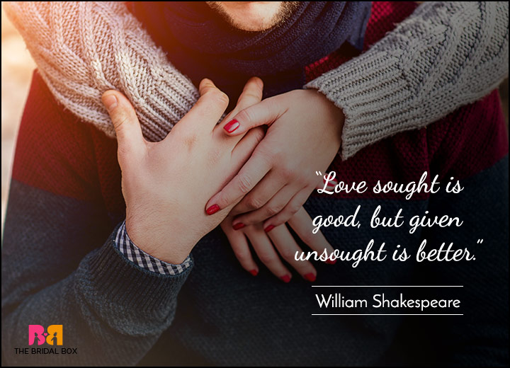 Short Love Quotes - Selfless In Your Love - William Shakespeare