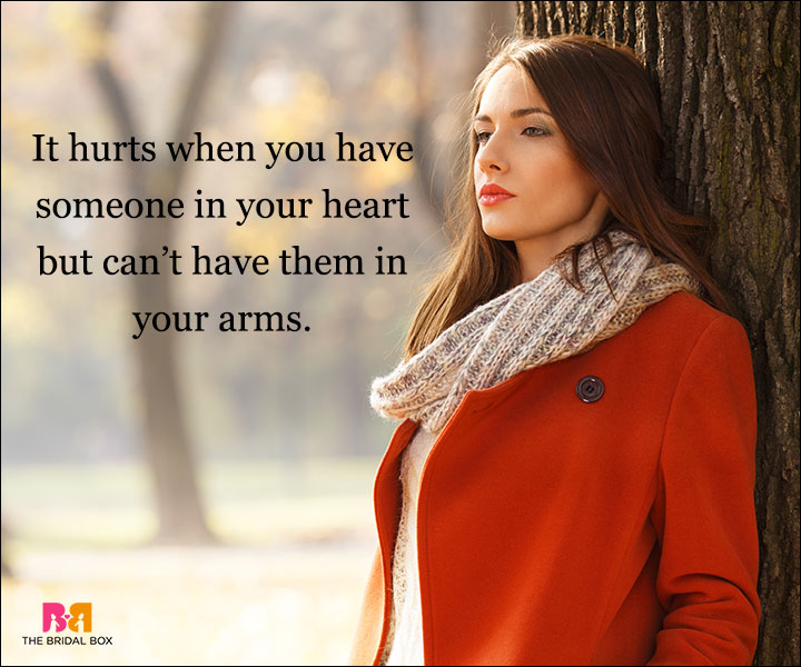 Depressed Love Quotes - In Your Arms