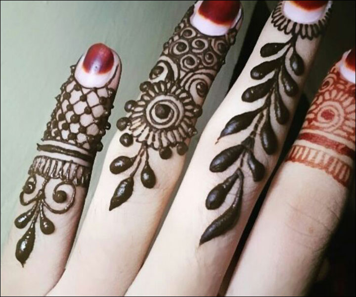 Mehndi Designs For Fingers Step By Step : Small mehndi design for fingers with luxury pictures in ireland