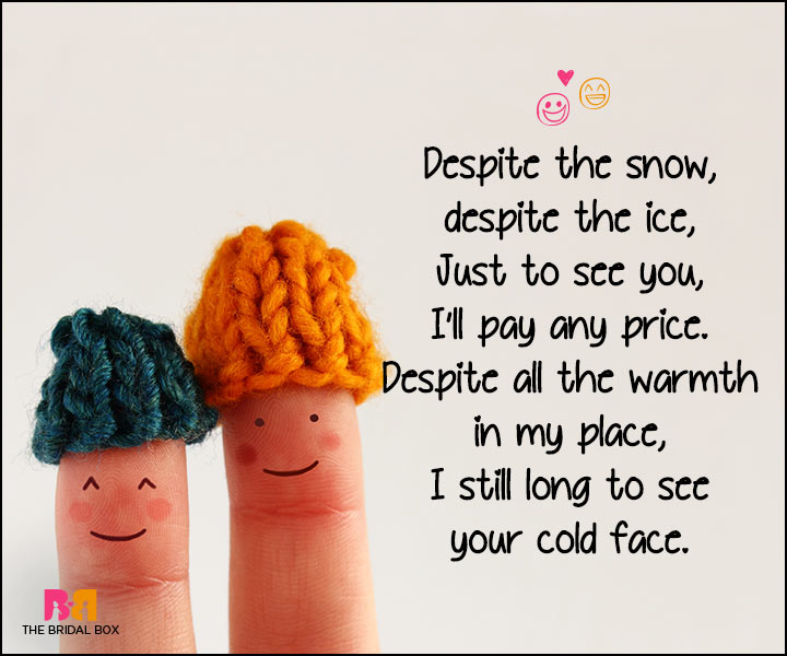 Funny Love Poems - Your Cold Face