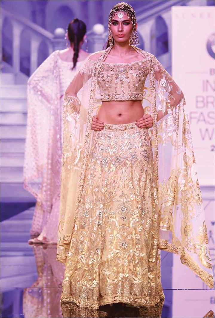 Ghagra Choli For Wedding - Golden Bliss