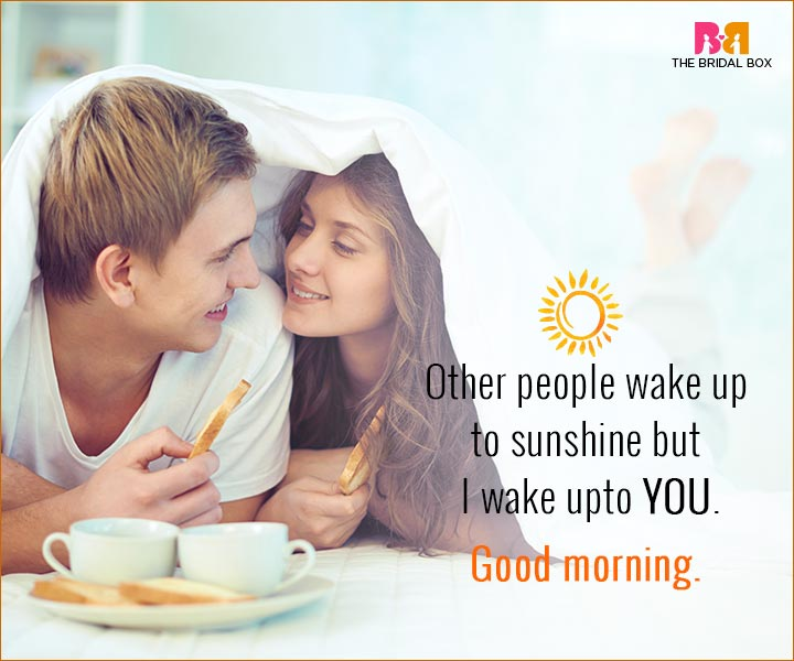 Good Morning Love Quotes For Husband - I Wake Up To You