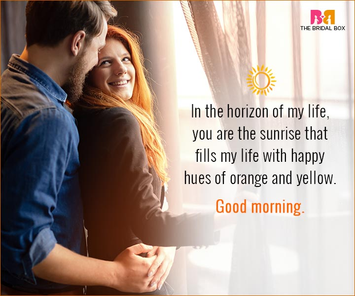 Good Morning Love Quotes For Husband - Orange And Yellow
