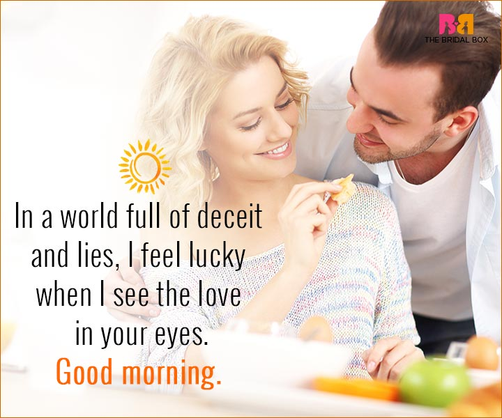 Good Morning Love Quotes For Husband - I Feel Lucky