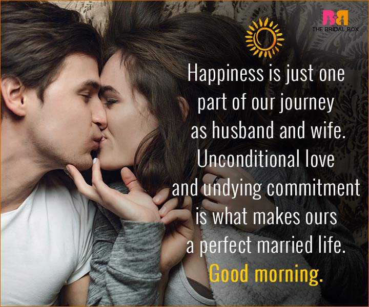 Good Morning Love Quotes For Husband - One Part Of Our Journey