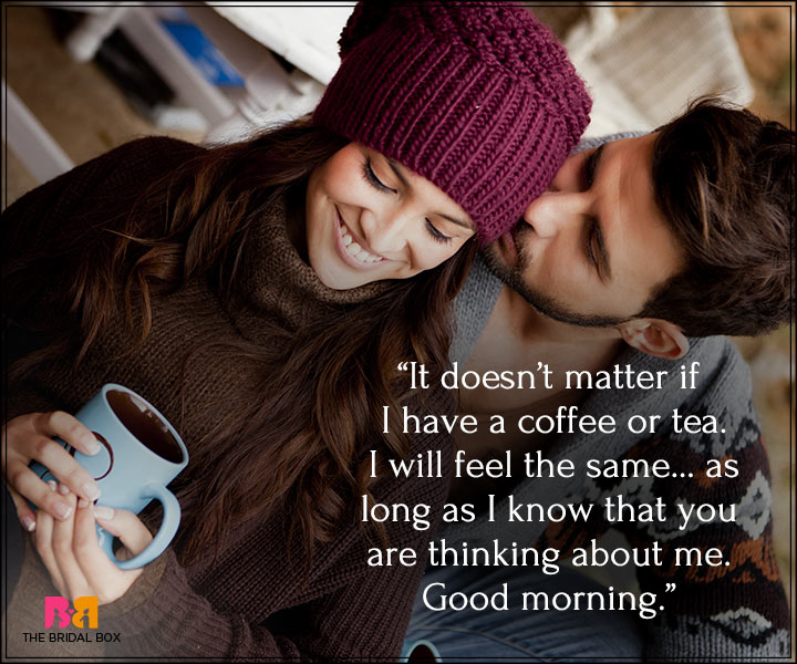 Good Morning Love Messages For Boyfriend - Tea Or Coffee