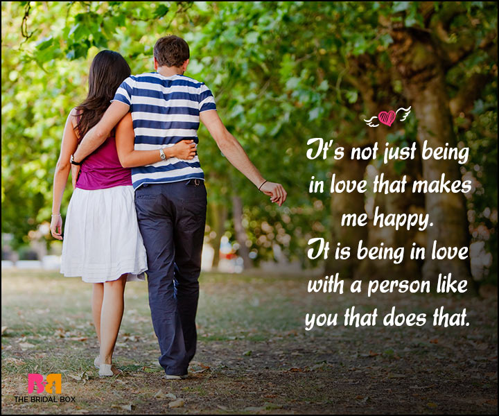 Happy Love Quotes - Being In Love With A Person LIke You