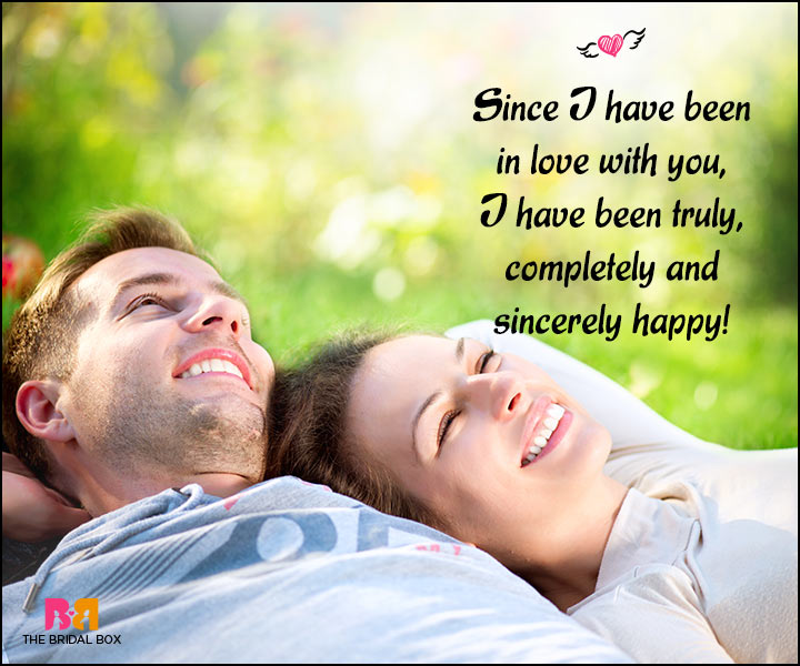 Happy Love Quotes - Truly, Completely And Sincerely Happy