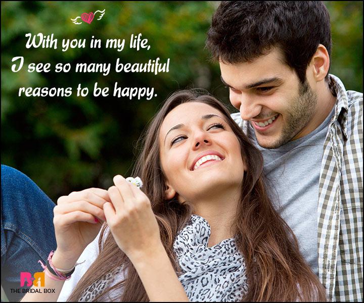 Happy Love Quotes - So Many Beautiful Reasons