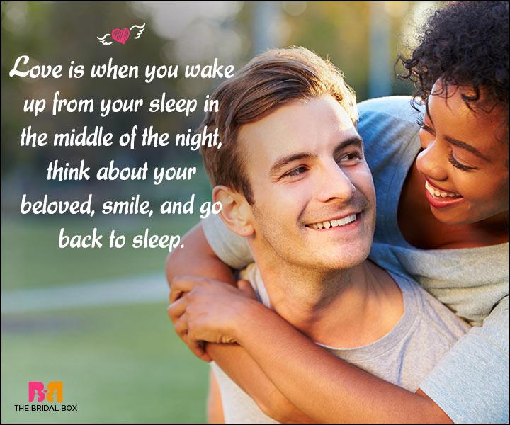 Happy Love Quotes - Go Back To Sleep