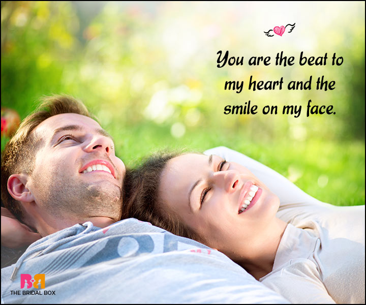 Happy Love Quotes - The Beat To My Heart