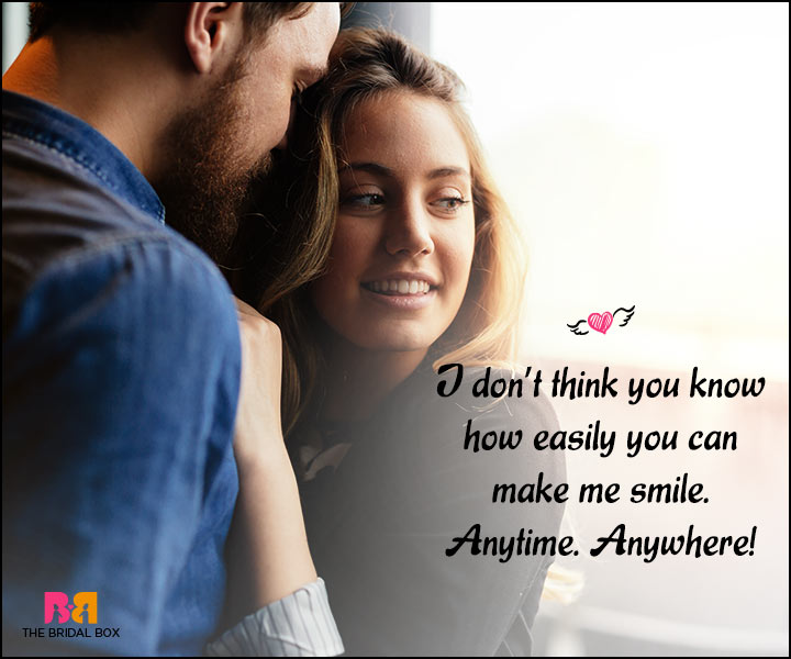 Happy Love Quotes - Anytime Anywhere