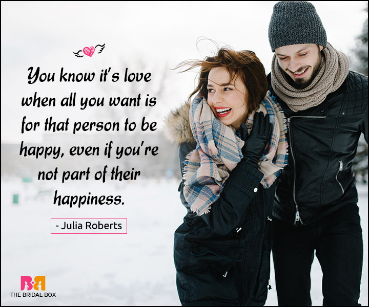 Happy Love Quotes - You Know It's Love