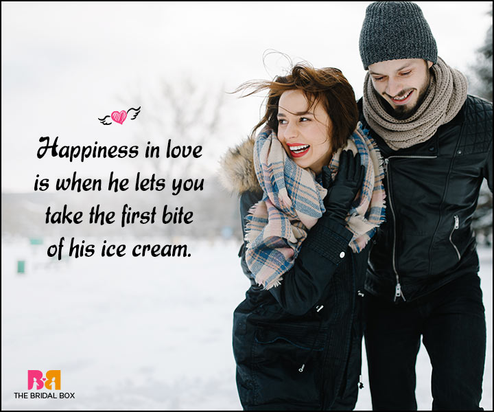 Happy Love Quotes - The First Bite