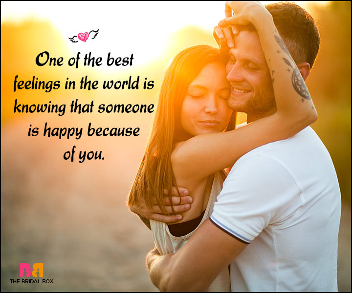 Happy Love Quotes - Just Because Of You