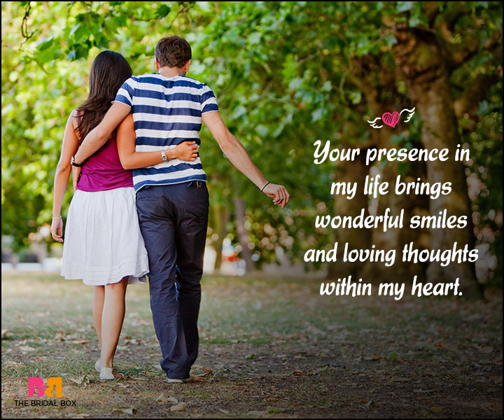 Happy Love Quotes - Wonderful Smiles And Loving Thoughts