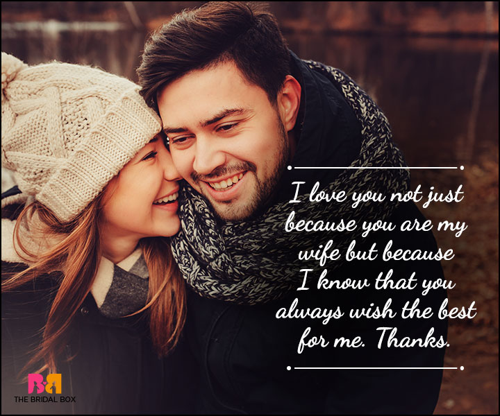 Husband And Wife Love Quotes - Wish The Best For Me