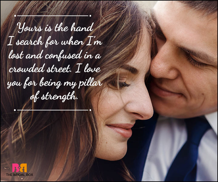 Husband And Wife Love Quotes - Your Hand