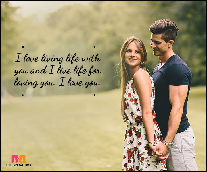 Husband And Wife Love Quotes - I Love Life