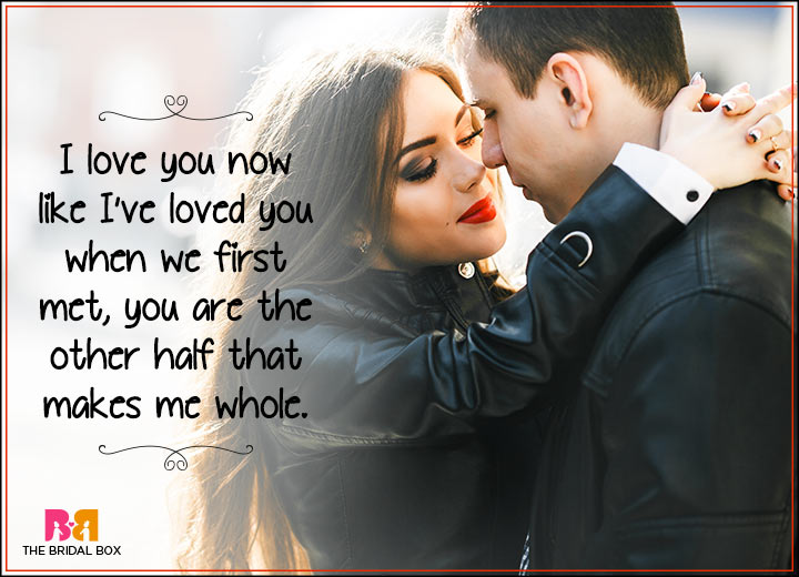 I Love You Status - The Other Half Of Me