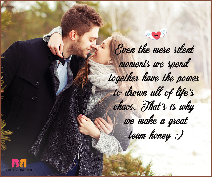 I Love You Messages For Wife - Even The Mere Silent Moments